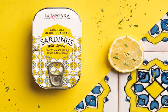 Gourmet  Mediterranean Sardines With Lemon Nutrition Facts